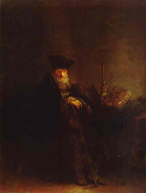 Old Rabbi 1642 | Rembrandt | Oil Painting