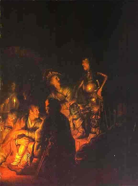 Peter Denying Christ 1628 | Rembrandt | Oil Painting