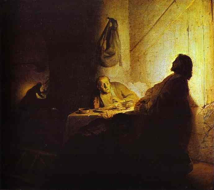 Pilgrims At Emmaus 1628-29 | Rembrandt | Oil Painting