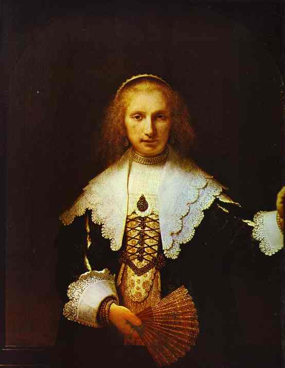 Portrait Of Agatha Bas Wife Of Nicolas Van Bambeeck 1641 | Rembrandt | Oil Painting