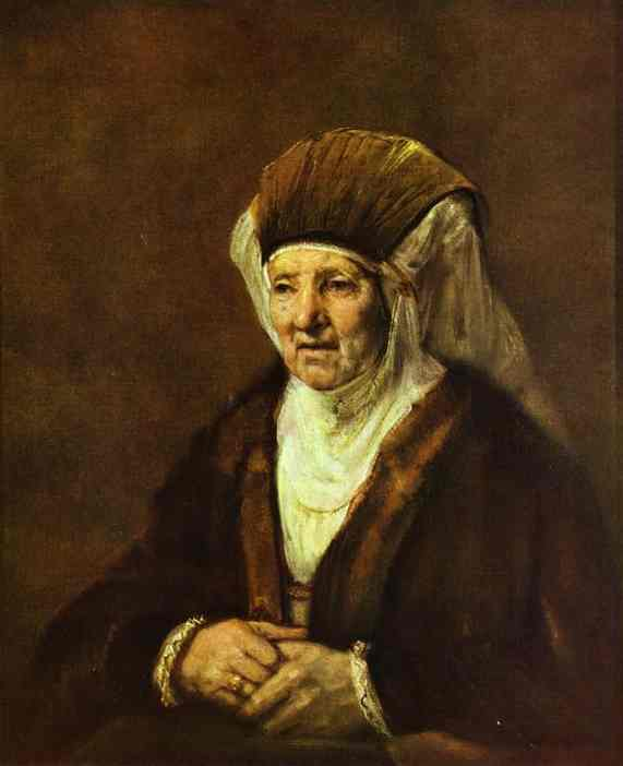 Portrait Of An Old Woman 1655 | Rembrandt | Oil Painting