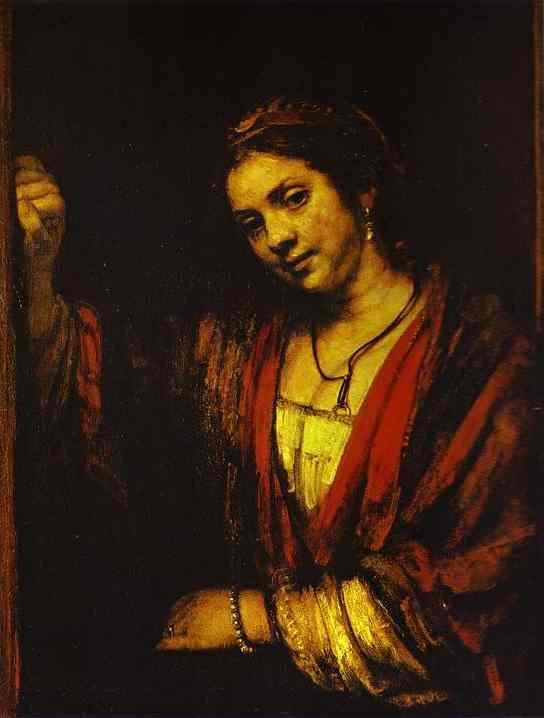 Portrait Of Hendrickje At Window 1656-57 | Rembrandt | Oil Painting