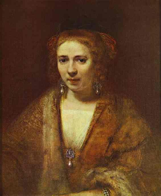 Portrait Of Hendrickje Stoffels 1650 | Rembrandt | Oil Painting
