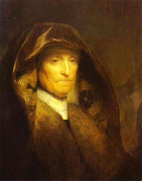 Portrait Of The Artists Mother 1629 | Rembrandt | Oil Painting