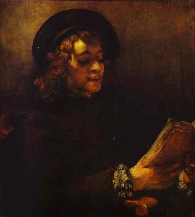 Portrait Of Titus Reading 1656-57 | Rembrandt | Oil Painting