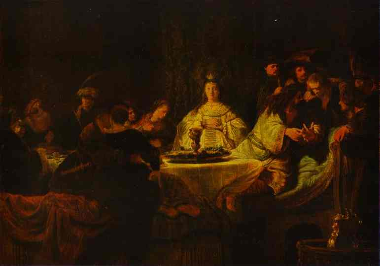Samson Putting Forth His Riddles At The Wedding Feast 1638 | Rembrandt | Oil Painting