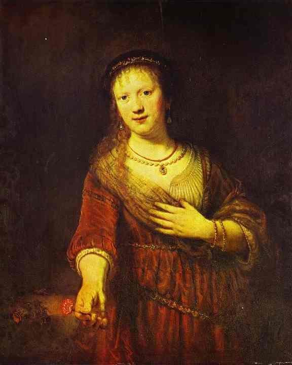 Saskia At Her Toilet 1641 | Rembrandt | Oil Painting
