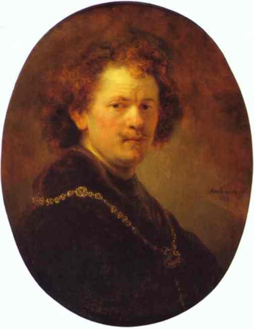 Self Portrait Bareheaded 1633 | Rembrandt | Oil Painting