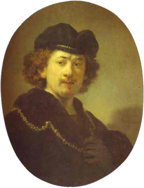 Self Portrait With A Gold Chain 1633 | Rembrandt | Oil Painting