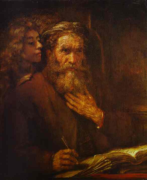 St Mathew And Angel 1661 | Rembrandt | Oil Painting