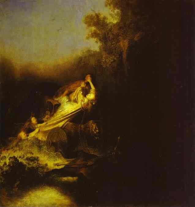 The Abduction Of Proserpine 1631   Rembrandt   Oil Painting