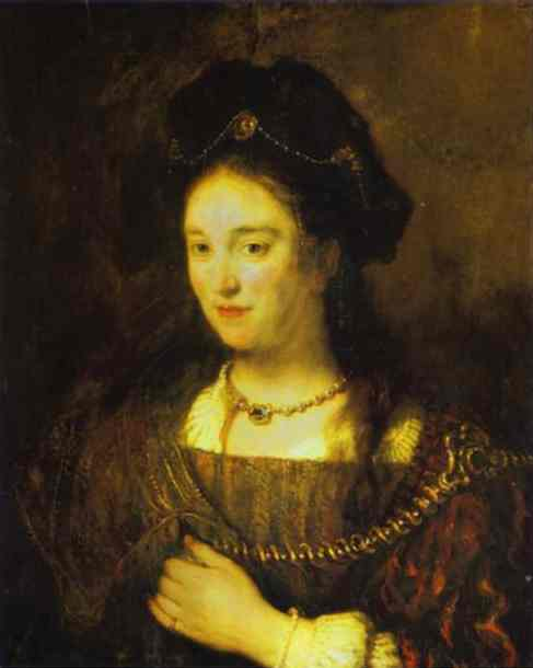 The Artists Wife Saskia 1643 | Rembrandt | Oil Painting