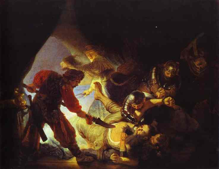 The Blinding Of Samson 1636 | Rembrandt | Oil Painting