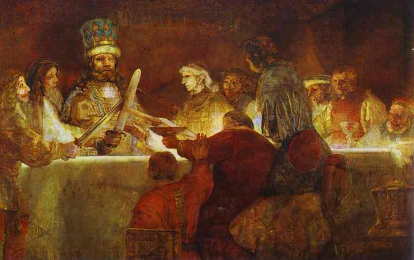 The Conspiracy Of Claudius (Or Julius) Civilis 1661 | Rembrandt | Oil Painting