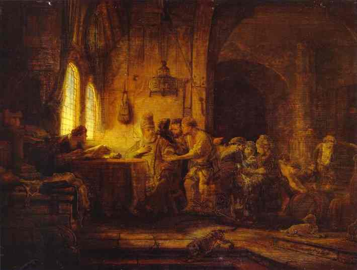 The Parable Of The Laborers In The Vineyard 1637 | Rembrandt | Oil Painting