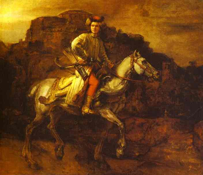 The Polish Rider 1655 | Rembrandt | Oil Painting