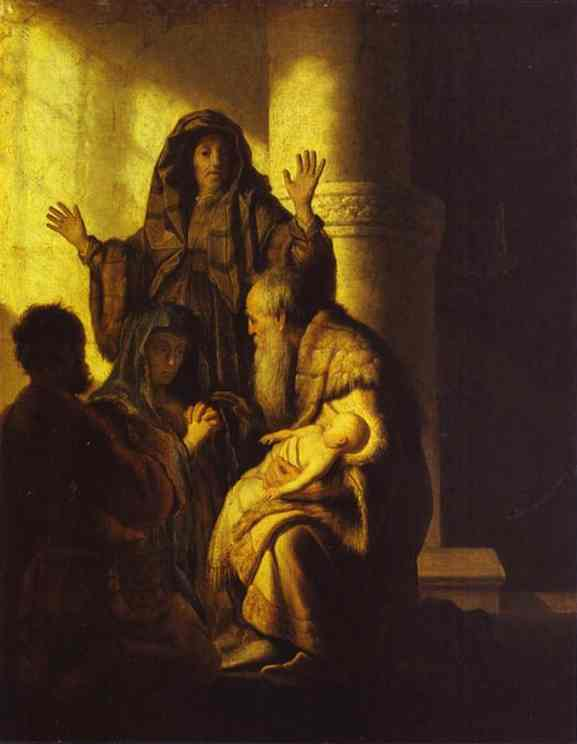 The Presentation Of Jesus In The Temple 1627 28 | Rembrandt | Oil Painting