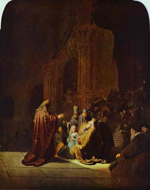 The Presentation Of Jesus In The Temple 1631 | Rembrandt | Oil Painting