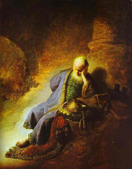 The Prophet Jeremiah Mourning Over The Destruction Of Jerusalem 1630 | Rembrandt | Oil Painting