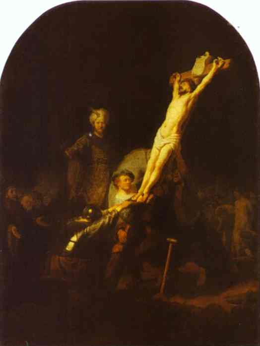 The Raising Of The Cross 1633 | Rembrandt | Oil Painting
