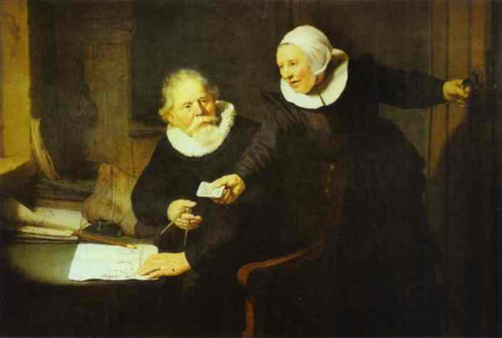 The Shipbuilder Jan Rijcksen And His Wife Griet Jans 1633 | Rembrandt | Oil Painting