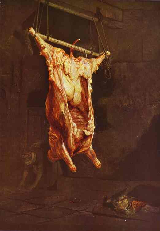 The Slaughtered Ox 1638 | Rembrandt | Oil Painting