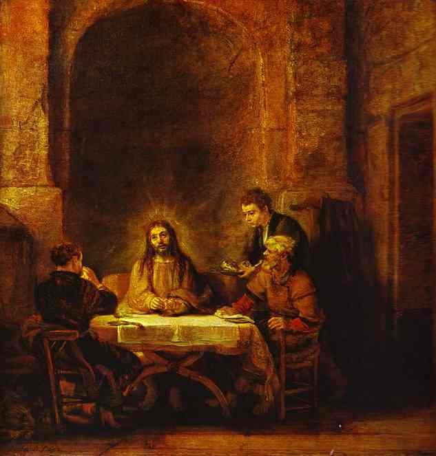 The Supper At Emmaus 1648 | Rembrandt | Oil Painting
