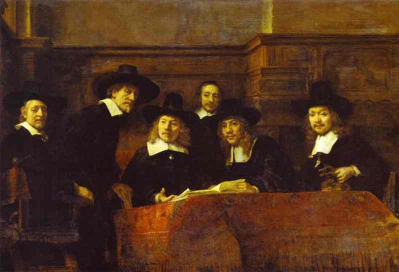 The Syndics Of The Clothmakers Guild (The Staalmeesters) 1662 | Rembrandt | Oil Painting