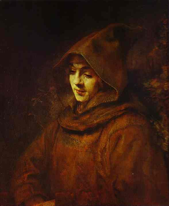 Titus In A Monk Habit 1660 | Rembrandt | Oil Painting