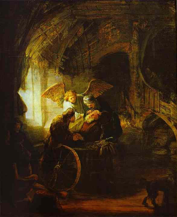 Tobias Returns Sight To His Father 1636 | Rembrandt | Oil Painting