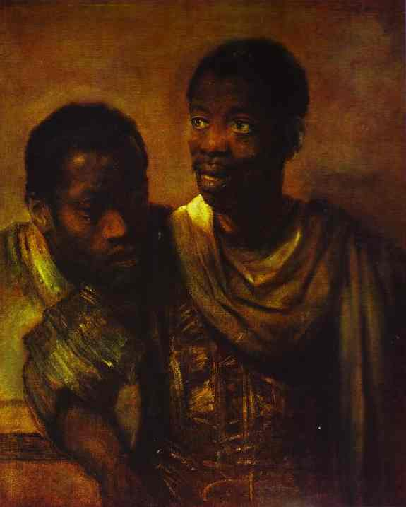 Two Negroes 1661 | Rembrandt | Oil Painting