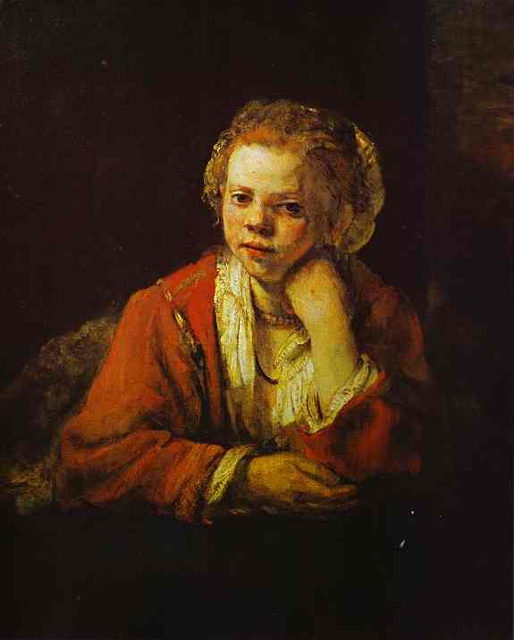 Young Girl At The Window 1651 | Rembrandt | Oil Painting