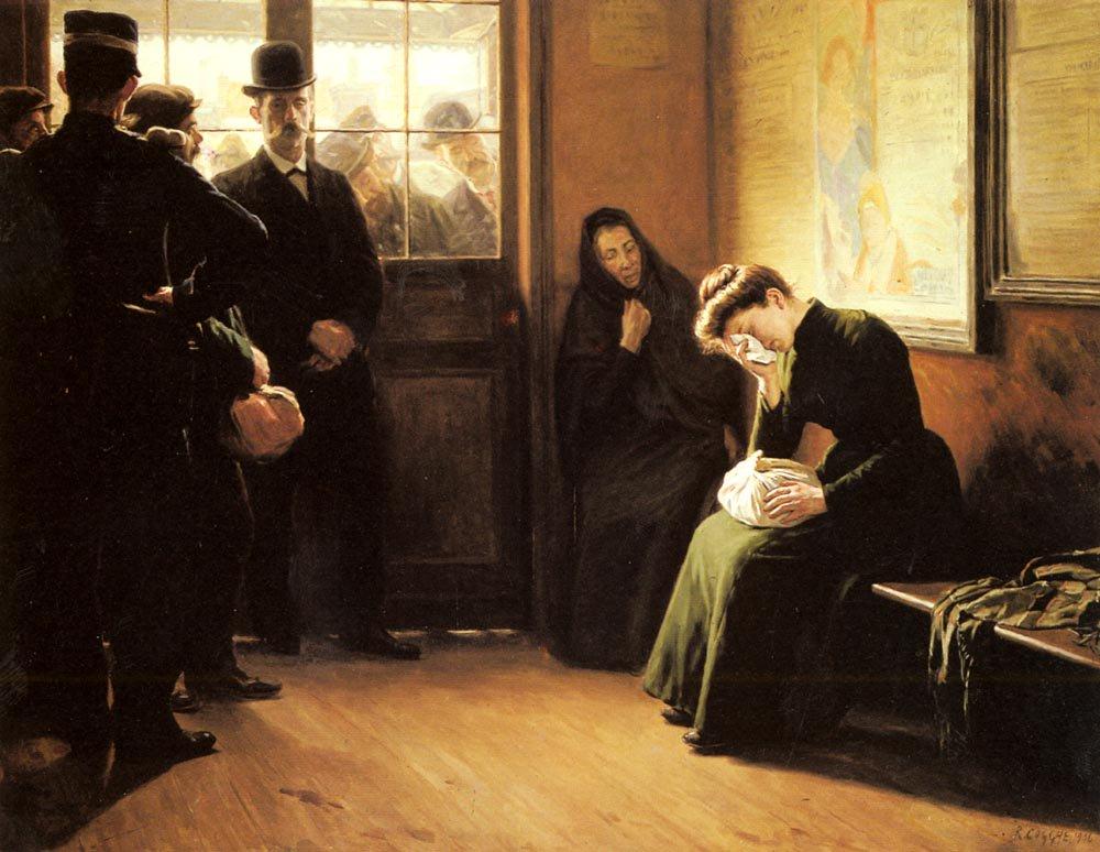 Depart des Prisonniers | Remy Cogghe | Oil Painting