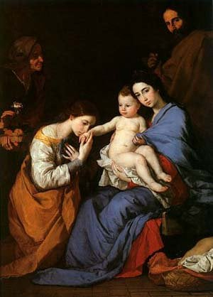 The Holy Family with Saints Anne and Catherine | Jusepe De Ribera | Oil Painting