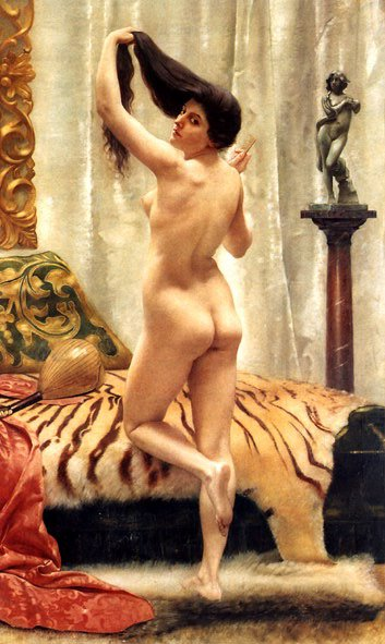 Before a Mirror | Robert Barrett Browning | Oil Painting