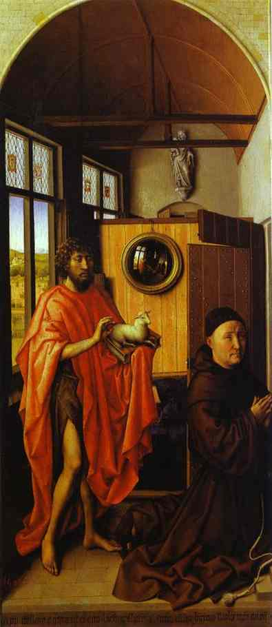 Heinrich Von Werl And St John The Baptist 1438 | Robert Campin | Oil Painting