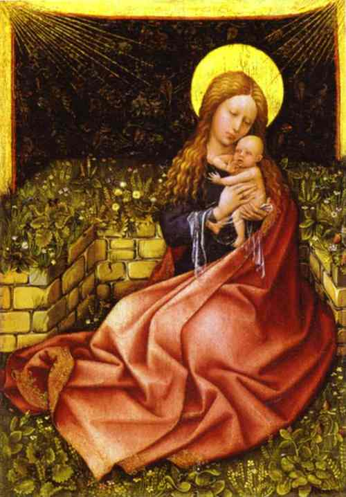 Madonna By A Grassy Bank 1425 | Robert Campin | Oil Painting