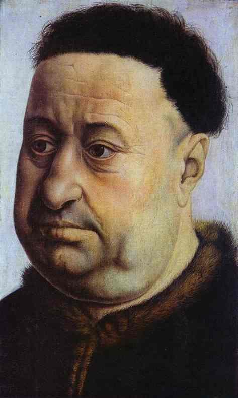 Portrait Of Robert De Masmines 1425 | Robert Campin | Oil Painting