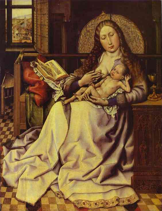 The Virgin And Child Before A Firescreen | Robert Campin | Oil Painting