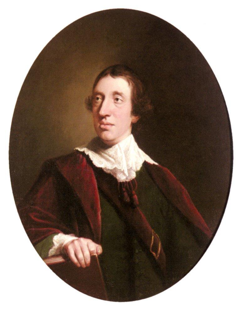 Portrait Of A Gentleman | Robert Edge Pine | Oil Painting