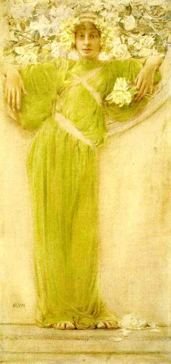 A Garland of Roses  1897 | Robert Frederick Blum | Oil Painting