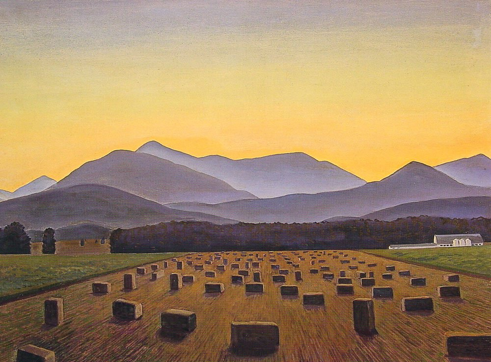 Hay Bales Evening Below Whiteface | Rockwel Kent | Oil Painting