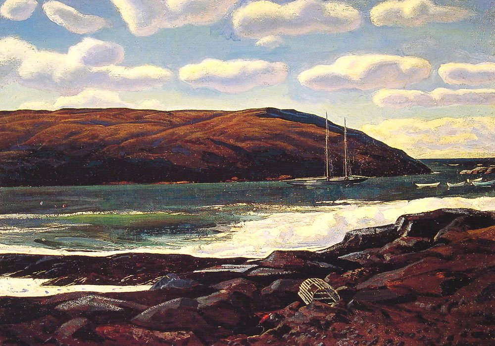Monhegan Harbor | Rockwel Kent | Oil Painting