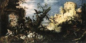Landscape With Birds 1622 | Roelandt Savery | Oil Painting