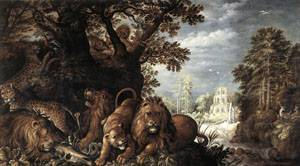 Landscape With Wild Animals | Roelandt Savery | Oil Painting