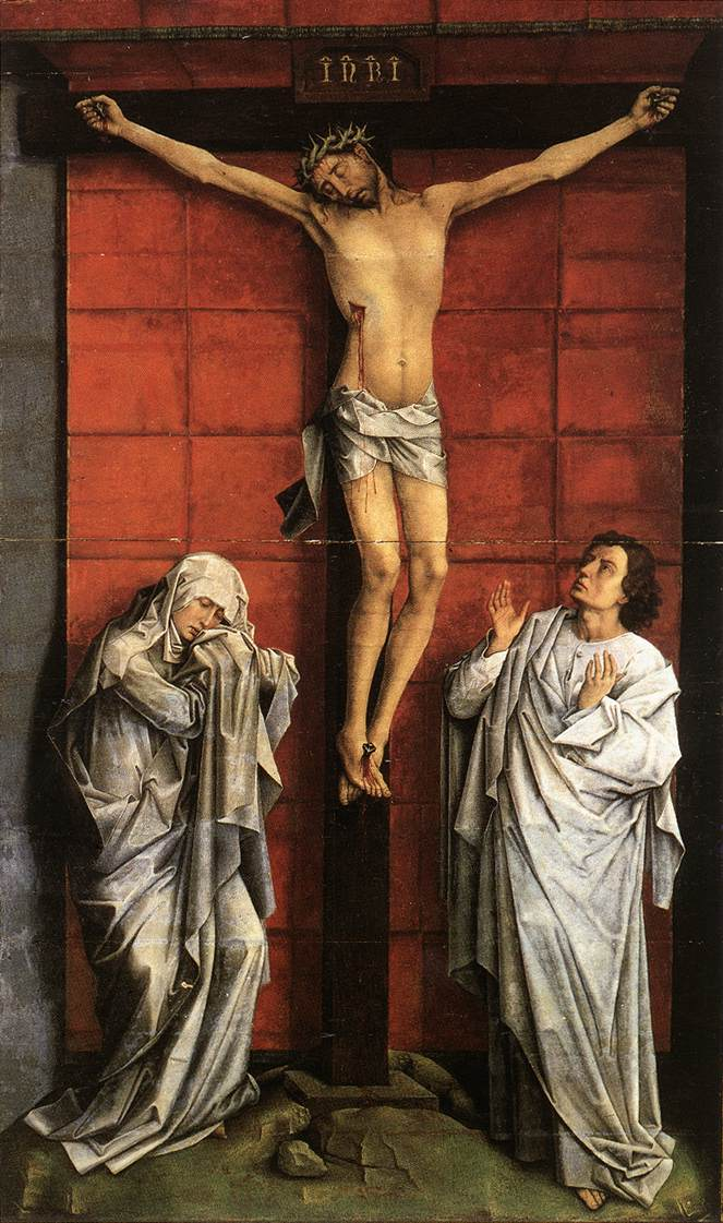 Christ With Mary And John | Rogier Vander Weyden | Oil Painting