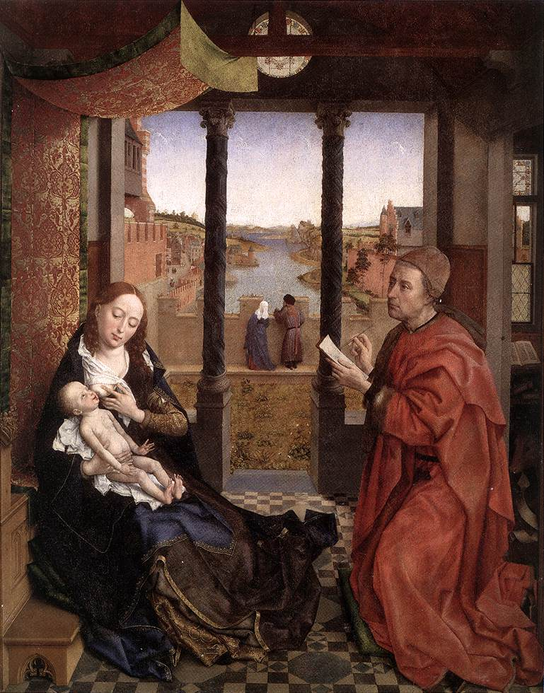 St Luke Painting Madonna | Rogier Vander Weyden | Oil Painting