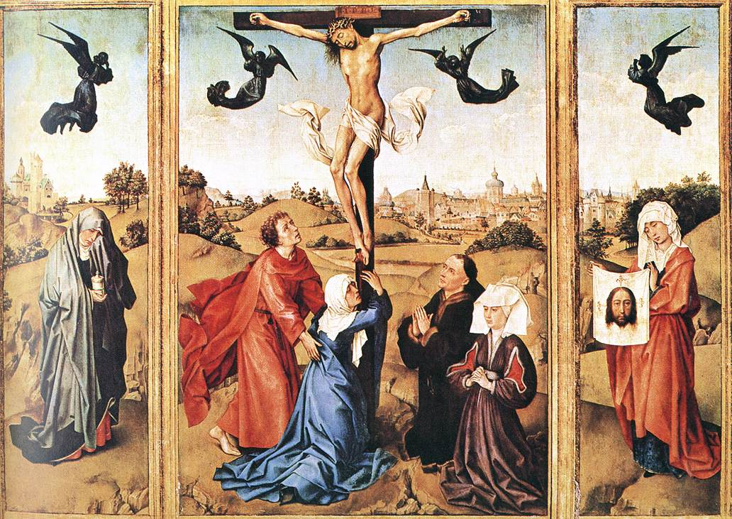 Triptych Of The Holy Cross | Rogier Vander Weyden | Oil Painting