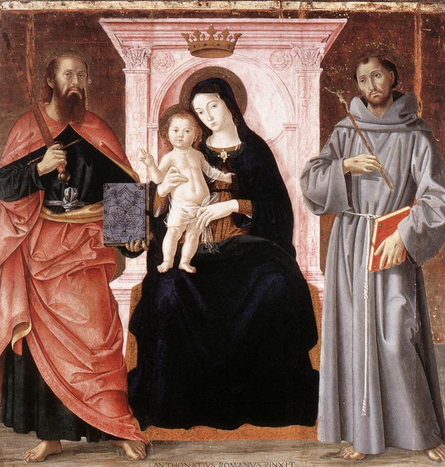Madonna Enthroned With The Infant Christ And Saints 1487 | Romano Antoniazzo | Oil Painting