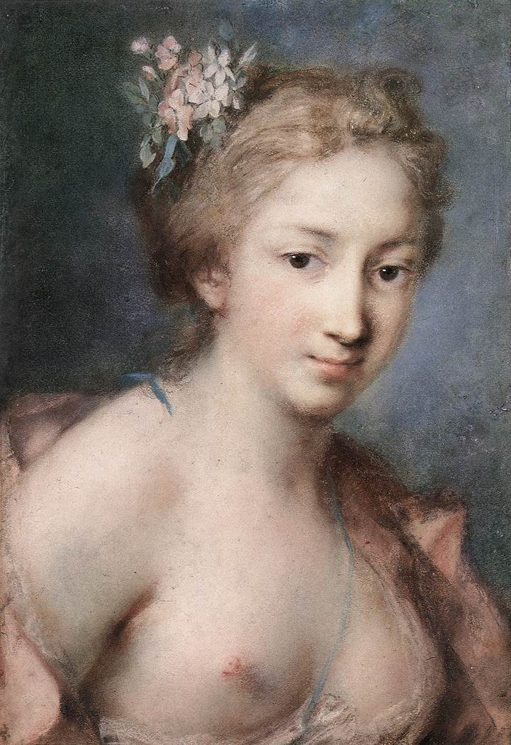 Flora 1730s | Rosalba Carriera | Oil Painting
